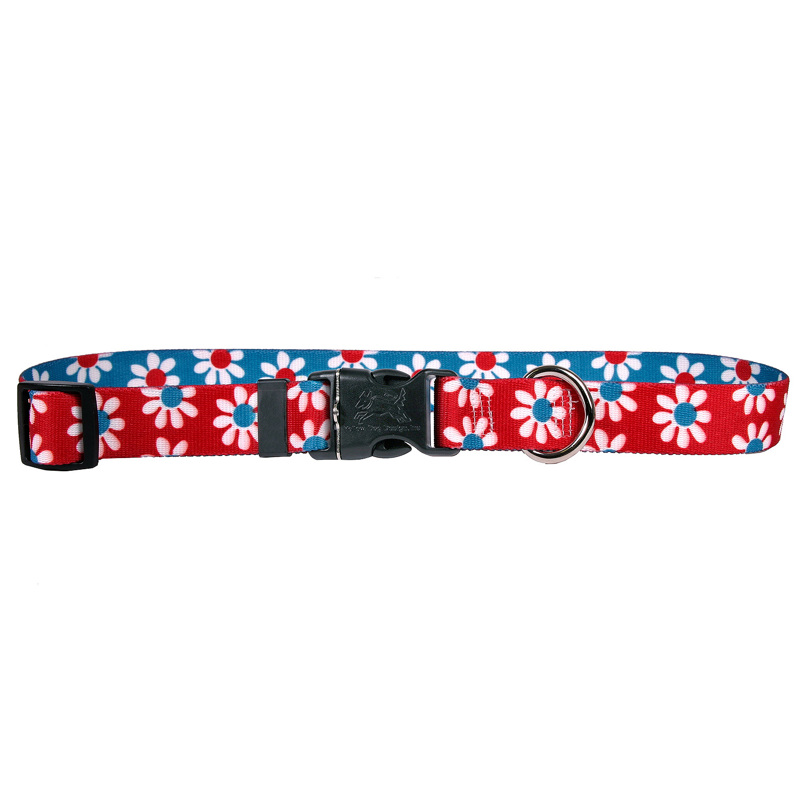 Red & Teal Daisy Standard Collar